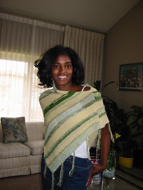 Multi Yarn Poncho